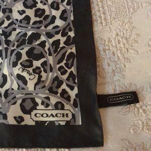 Coach Accessories - Coach Animal Print Silk Scarf